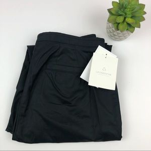 Liz Claiborne Black Cotton Dress Pants 8 Petite